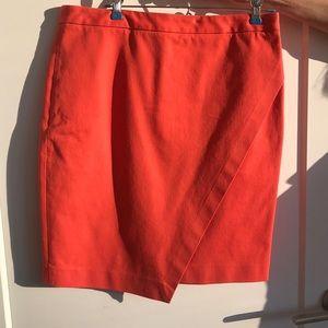 Banana Republic Orange Pencil Skirt